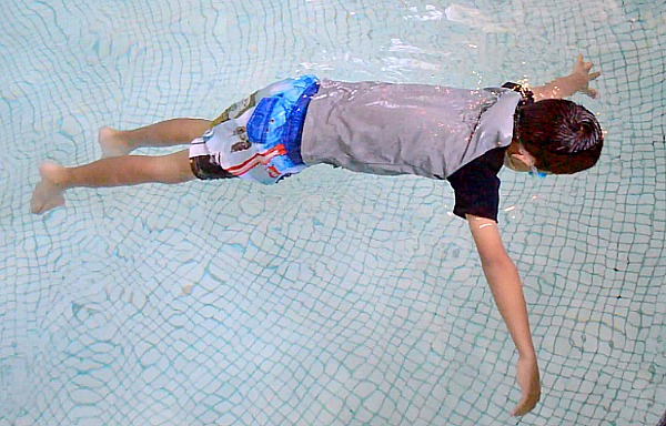 Help your child learn how to front float