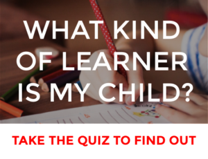 what kind of learner is my child quiz
